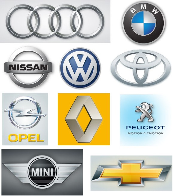 Free Automobile Logos vector