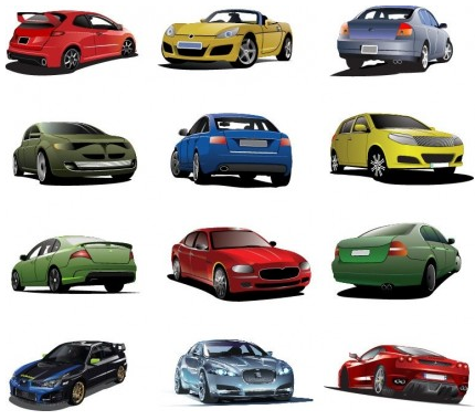 Free Cars Set vector