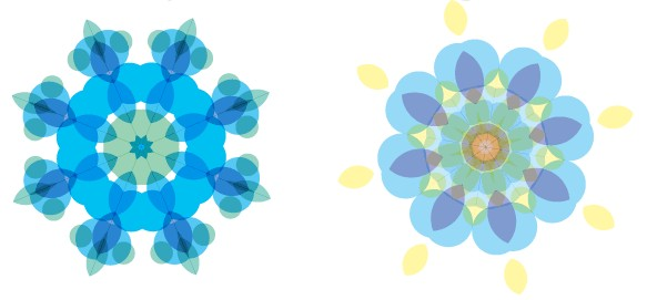 Free Colorful Floral Shapes Pack design vector