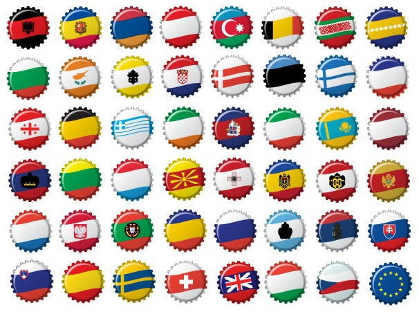 Free European Flags vector