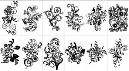 Free Floral Pack set vector