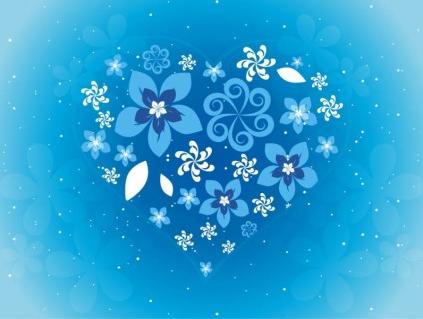 Free Flower Heart Art creative vector