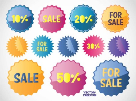 Free Sales Stickers vector