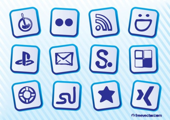 Free Social Icons vector graphics