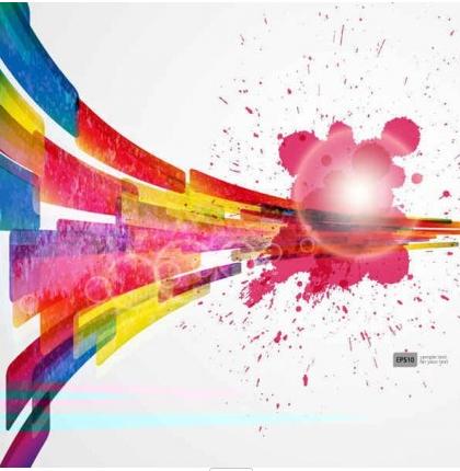 Free Splash Color Background vector set