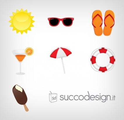Free Summer Icon Set design vectors
