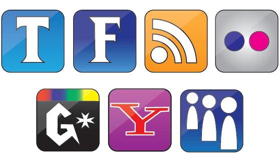 Free Set Social Icons vector