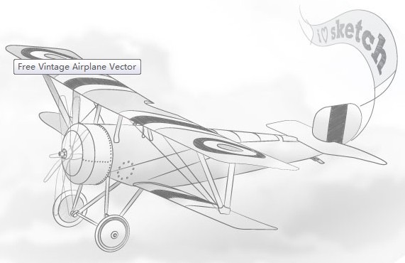 Free Vintage Airplane vector graphics
