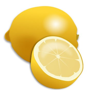 Fresh Lemon and Lemon Slice Realistic Clip Art vector