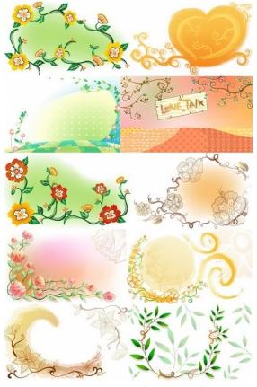 Fresh flowers handpainted background 03 vector