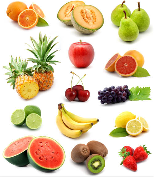Fruits Collages Set vector