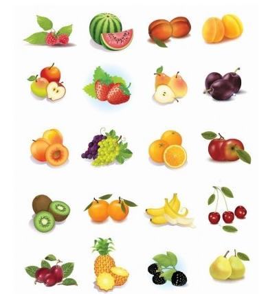 Fruits Vector Graphics vector set