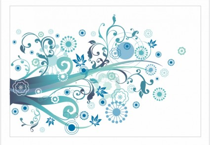 Funky florals free vector