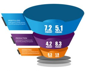 Funnel sales infographic template vector 06