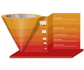 Funnel sales infographic template vector 07