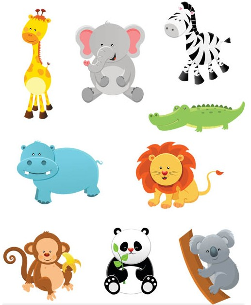 Funny Animals Set 2 vector