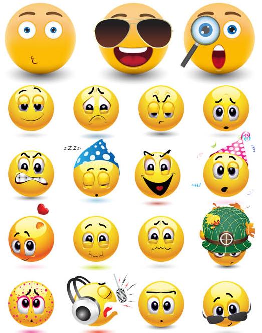 Funny Smiles 2 vector