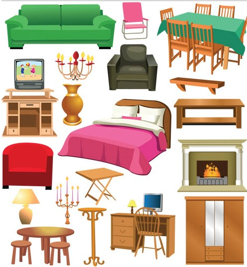 Furniture graphic vectors