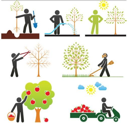 Garden Symbols free shiny vector