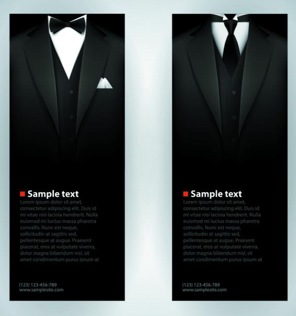 Gentleman dress 3 vectors graphic