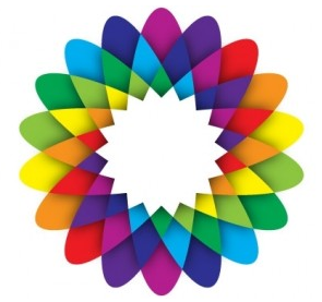 Geometric Flower free set vector