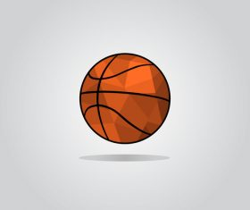 Geometric polygon basketball illustration vector