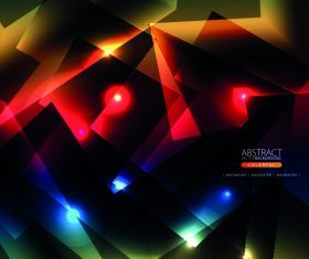 Geometric shape background with colored light vector