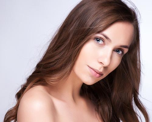 Girl without makeup Stock Photo