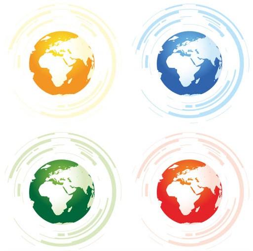 Globes Symbols graphic vector