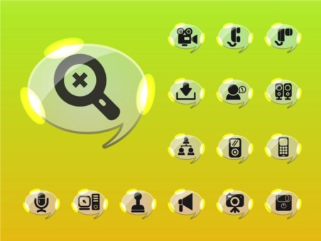 Glossy Icons vectors material