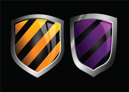 Glossy Shields vectors material
