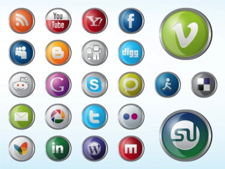 Glossy Website Icons vectors