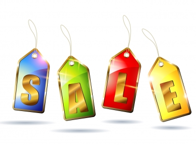 Glossy sale tags Free design vectors