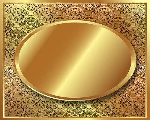 Gold Backgrounds graphics 3 vector material