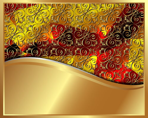 Gold Backgrounds graphics 4 vector material