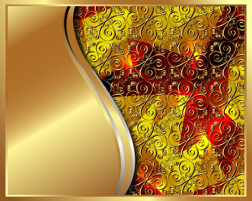 Gold Backgrounds graphics 5 vector material