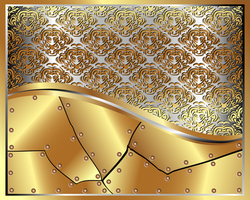Gold Backgrounds graphics 6 vector material