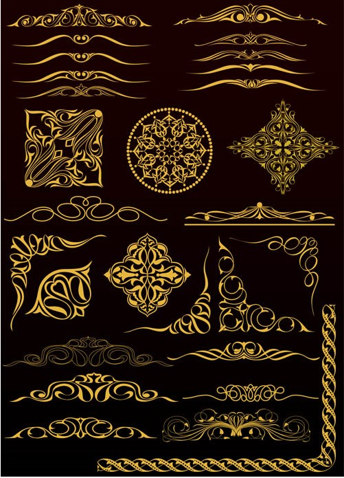 Gold Design Elements 2 vectors graphic