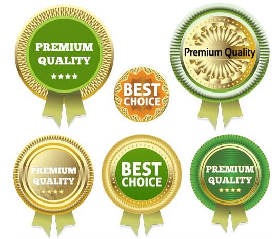 Gold Guarantee Badges art vector