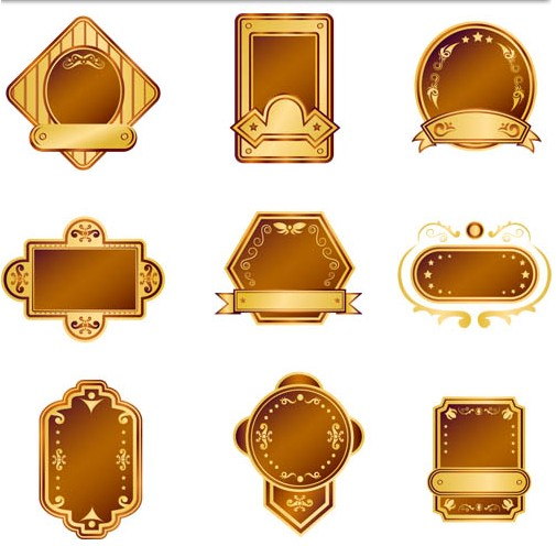 Gold Labels graphic vector graphic