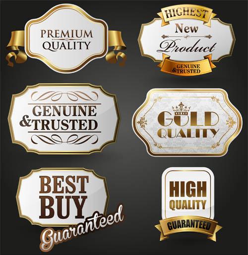 Gold Luxury Labels Mix design vectors