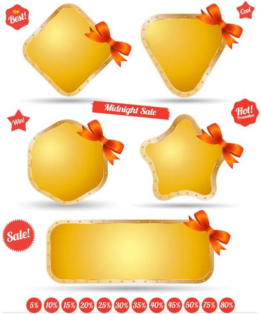 Gold Sale Shields vector