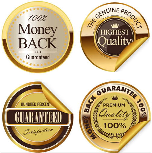 Golden Badges Set vector