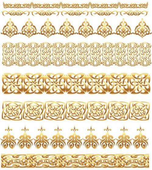 Golden Elements free vector