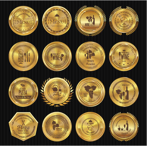 Golden Labels free vectors