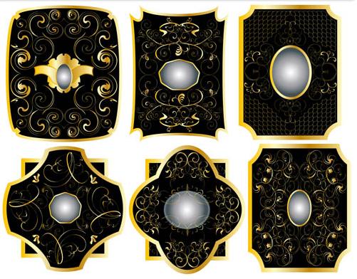 Golden Luxury Labels art vector