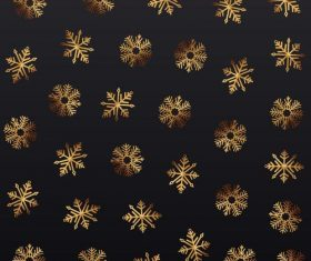 Golden snowflake christmas festival illustration vector 02