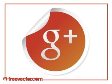 Google Plus Icon set vector