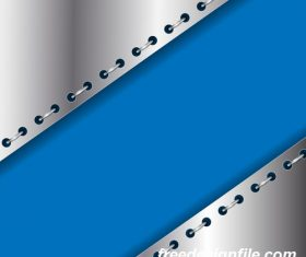 Gray metal with blue background vectors
