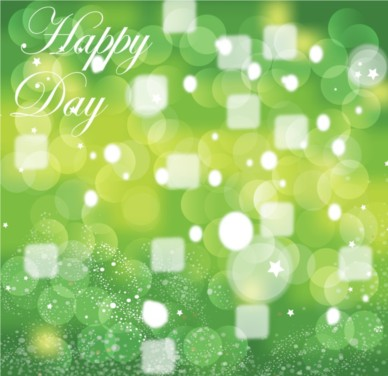 Green Celebration background vector